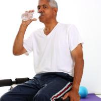 Senior Minority Man Working Out Set On A White Background