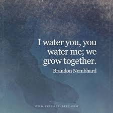I water you